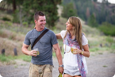 Okanagan-Lake-engagement-session_fun-couple-field-dog-wine16_by-Kevin-Trowbridge