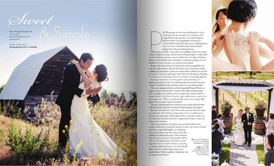 Published In Real Weddings Magazine
