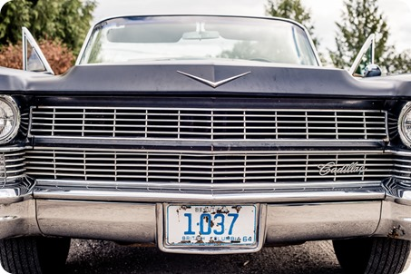 convertible-Cadillac_engagement-portraits_travel-cherry-orchard_Okanagan_01_by-Kevin-Trowbridge
