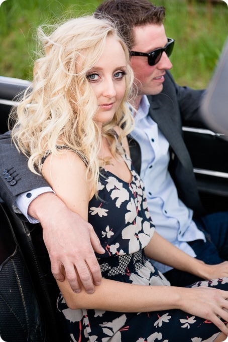 convertible-Cadillac_engagement-portraits_travel-cherry-orchard_Okanagan_06_by-Kevin-Trowbridge