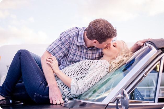 convertible-Cadillac_engagement-portraits_travel-cherry-orchard_Okanagan_126_by-Kevin-Trowbridge