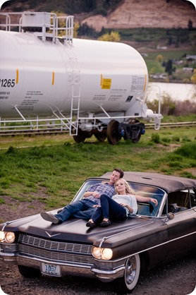 convertible-Cadillac_engagement-portraits_travel-cherry-orchard_Okanagan_129_by-Kevin-Trowbridge