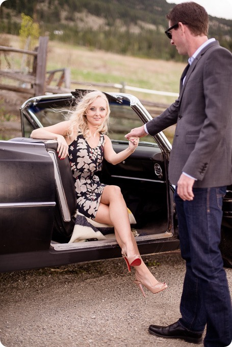 convertible-Cadillac_engagement-portraits_travel-cherry-orchard_Okanagan_12_by-Kevin-Trowbridge