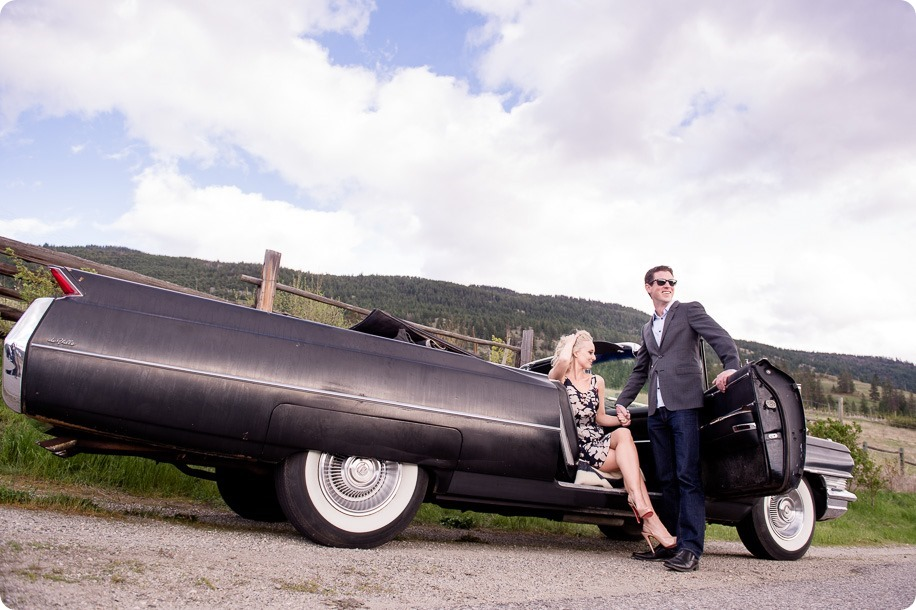 convertible-Cadillac_engagement-portraits_travel-cherry-orchard_Okanagan_13_by-Kevin-Trowbridge