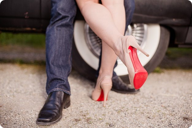 convertible-Cadillac_engagement-portraits_travel-cherry-orchard_Okanagan_21_by-Kevin-Trowbridge