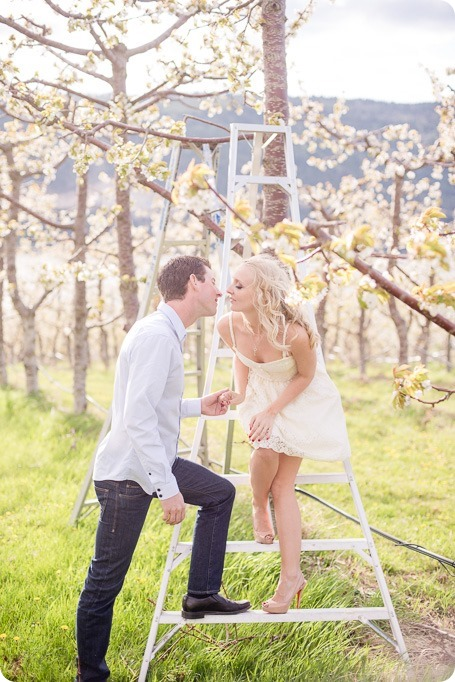 convertible-Cadillac_engagement-portraits_travel-cherry-orchard_Okanagan_40_by-Kevin-Trowbridge