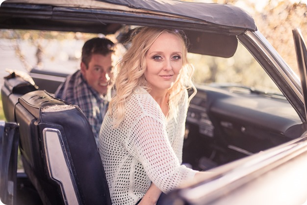 convertible-Cadillac_engagement-portraits_travel-cherry-orchard_Okanagan_94_by-Kevin-Trowbridge