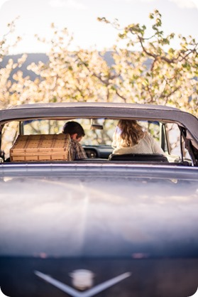 convertible-Cadillac_engagement-portraits_travel-cherry-orchard_Okanagan_95_by-Kevin-Trowbridge