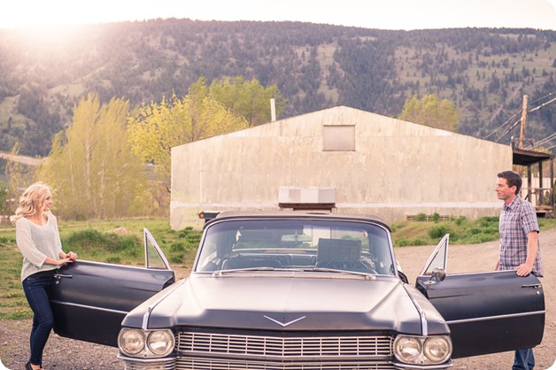 convertible-Cadillac_engagement-portraits_travel-cherry-orchard_Okanagan_99_by-Kevin-Trowbridge