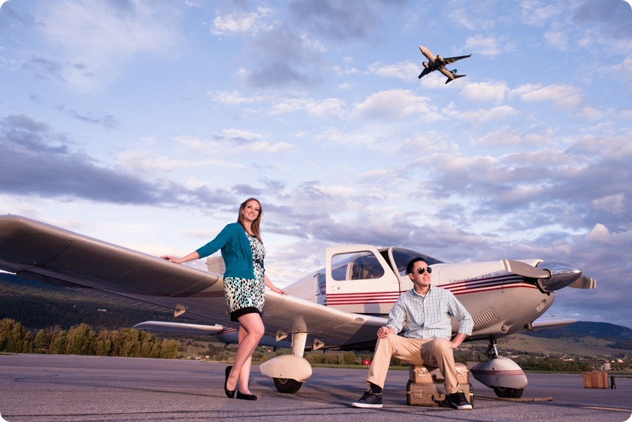 Kelowna Airport Engagement Session Airplane Portraits 99 By Kevin Trowbridge