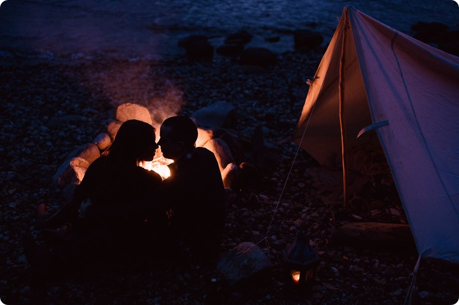 Okanagan-engagement-session_camping-lake-portraits_dog-tent-coffee-campfire_112_by-Kevin-Trowbridge
