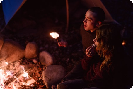 Okanagan-engagement-session_camping-lake-portraits_dog-tent-coffee-campfire_121_by-Kevin-Trowbridge