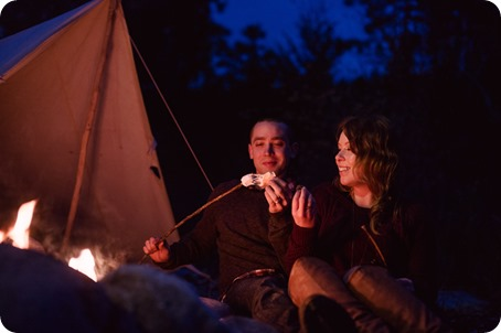 Okanagan-engagement-session_camping-lake-portraits_dog-tent-coffee-campfire_122_by-Kevin-Trowbridge