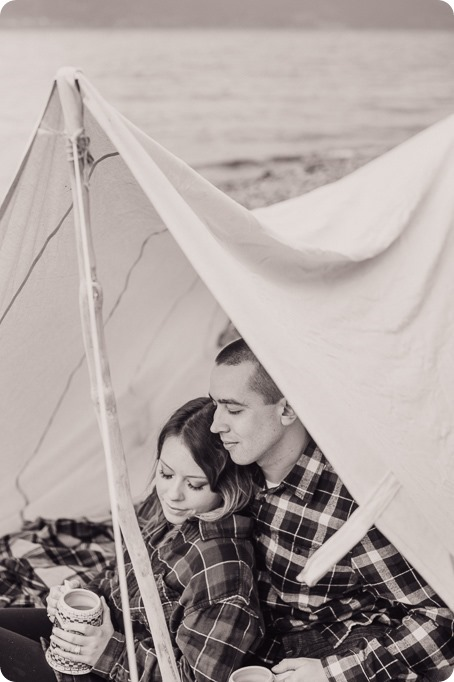 Okanagan-engagement-session_camping-lake-portraits_dog-tent-coffee-campfire_16_by-Kevin-Trowbridge