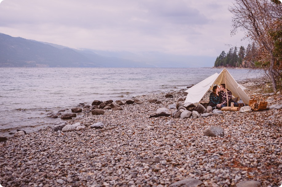 Okanagan-engagement-session_camping-lake-portraits_dog-tent-coffee-campfire_21_by-Kevin-Trowbridge