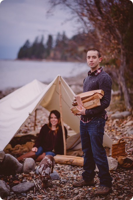 Okanagan-engagement-session_camping-lake-portraits_dog-tent-coffee-campfire_70_by-Kevin-Trowbridge
