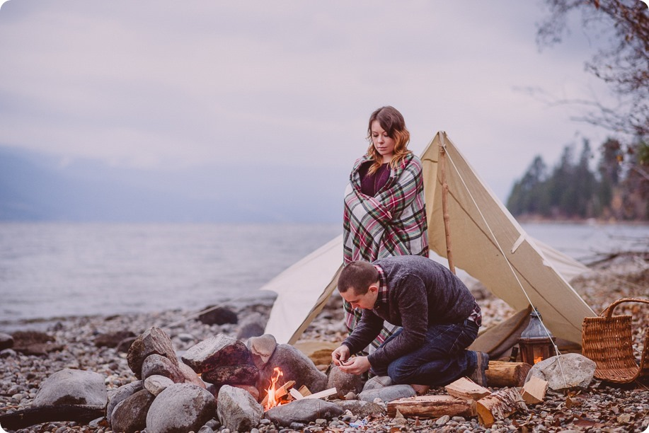 Okanagan-engagement-session_camping-lake-portraits_dog-tent-coffee-campfire_77_by-Kevin-Trowbridge