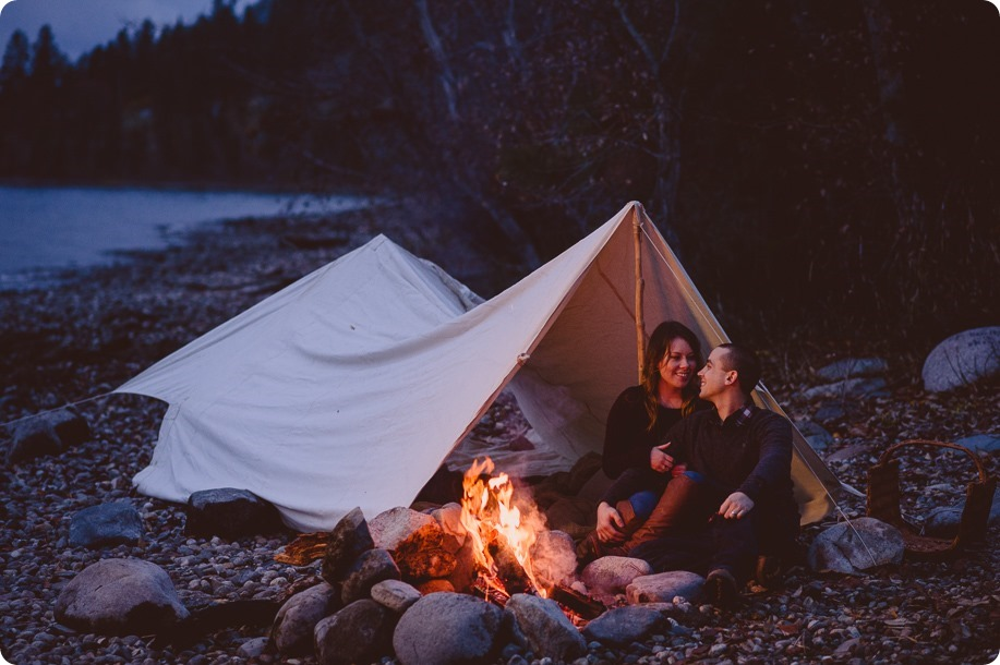 Okanagan-engagement-session_camping-lake-portraits_dog-tent-coffee-campfire_93_by-Kevin-Trowbridge