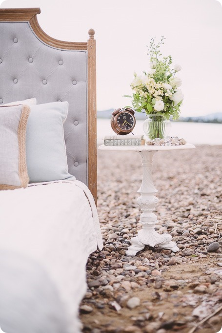 Kelowna-engagement-session_bed-on-the-beach_pillow-fight_lake-portraits_vintage-origami_01_by-Kevin-Trowbridge
