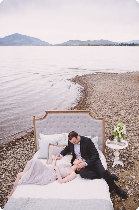 Kelowna-engagement-session_bed-on-the-beach_pillow-fight_lake-portraits_vintage-origami_12_by-Kevin-Trowbridge
