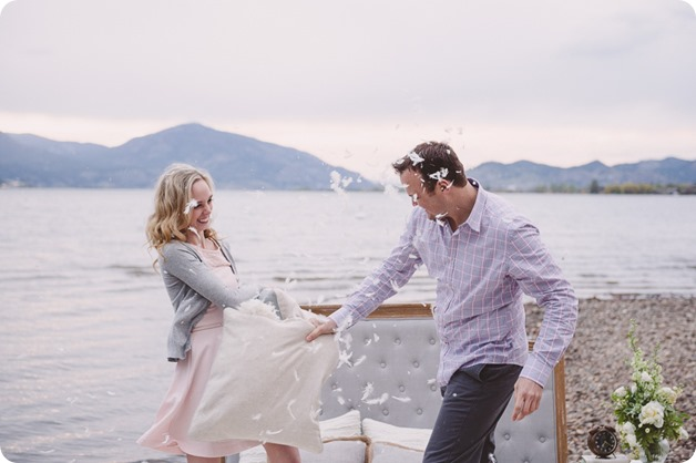 Kelowna-engagement-session_bed-on-the-beach_pillow-fight_lake-portraits_vintage-origami_55_by-Kevin-Trowbridge