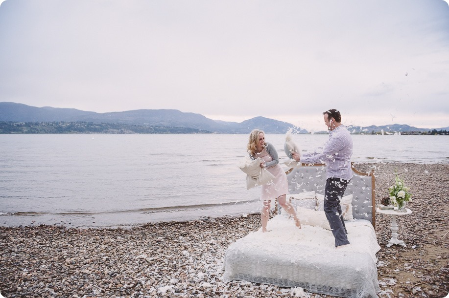 Kelowna-engagement-session_bed-on-the-beach_pillow-fight_lake-portraits_vintage-origami_56_by-Kevin-Trowbridge