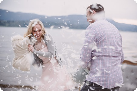 Kelowna-engagement-session_bed-on-the-beach_pillow-fight_lake-portraits_vintage-origami_58_by-Kevin-Trowbridge