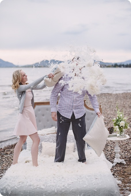 Kelowna-engagement-session_bed-on-the-beach_pillow-fight_lake-portraits_vintage-origami_59_by-Kevin-Trowbridge