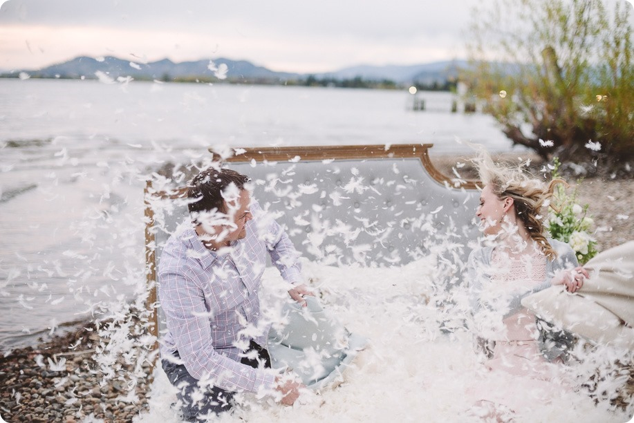 Kelowna-engagement-session_bed-on-the-beach_pillow-fight_lake-portraits_vintage-origami_61_by-Kevin-Trowbridge