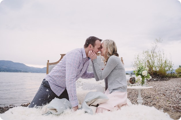 Kelowna-engagement-session_bed-on-the-beach_pillow-fight_lake-portraits_vintage-origami_62_by-Kevin-Trowbridge