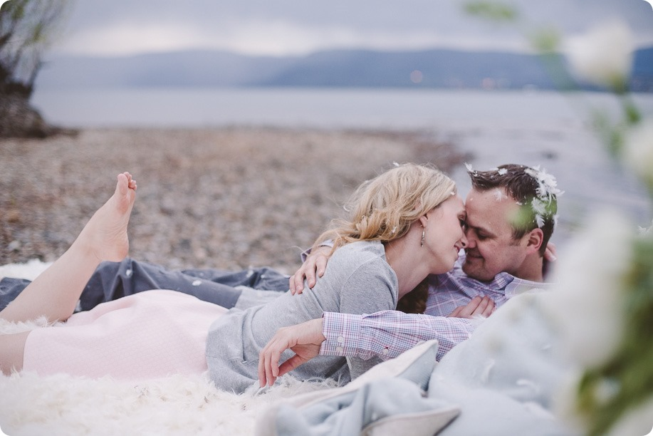 Kelowna-engagement-session_bed-on-the-beach_pillow-fight_lake-portraits_vintage-origami_64_by-Kevin-Trowbridge