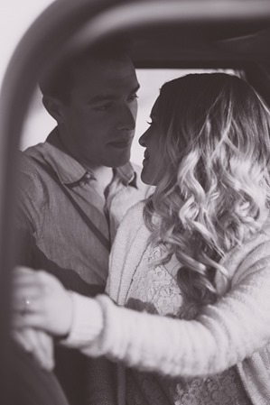 Vintage Truck Engagement Session Okanagan Photographer Sunset Field Couples Portraits 46850 By