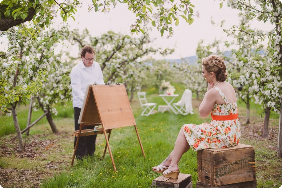 Kelowna-engagement-session_orchard-blossom_croquet-portraits_vintage-floral-dress_17_by-Kevin-Trowbridge