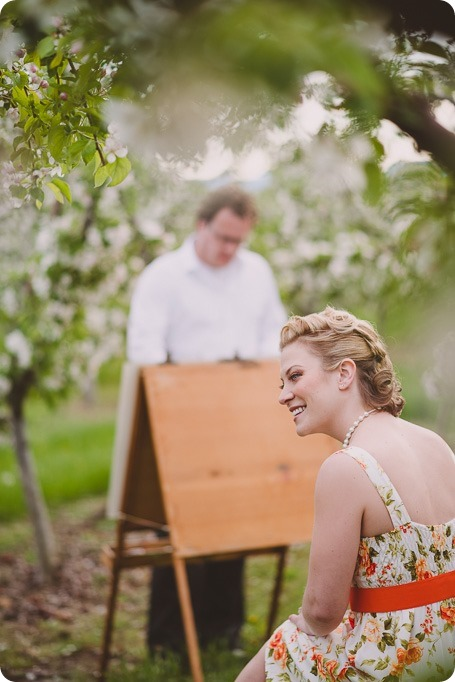 Kelowna-engagement-session_orchard-blossom_croquet-portraits_vintage-floral-dress_19_by-Kevin-Trowbridge