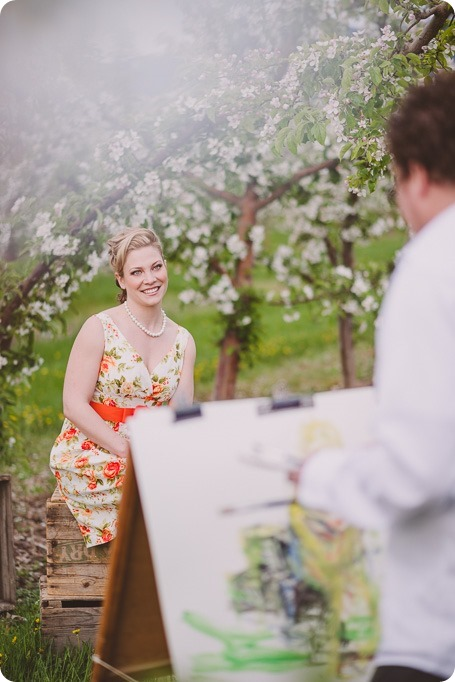 Kelowna-engagement-session_orchard-blossom_croquet-portraits_vintage-floral-dress_21_by-Kevin-Trowbridge