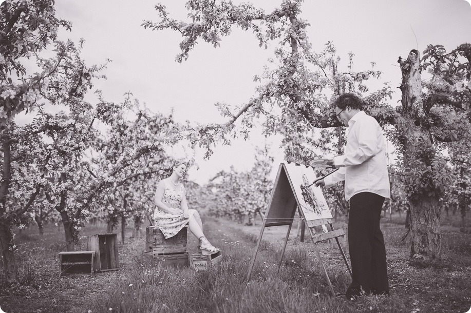 Kelowna-engagement-session_orchard-blossom_croquet-portraits_vintage-floral-dress_23_by-Kevin-Trowbridge