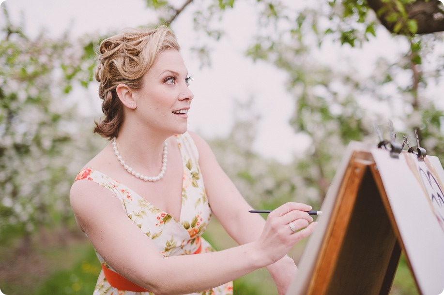 Kelowna-engagement-session_orchard-blossom_croquet-portraits_vintage-floral-dress_27_by-Kevin-Trowbridge
