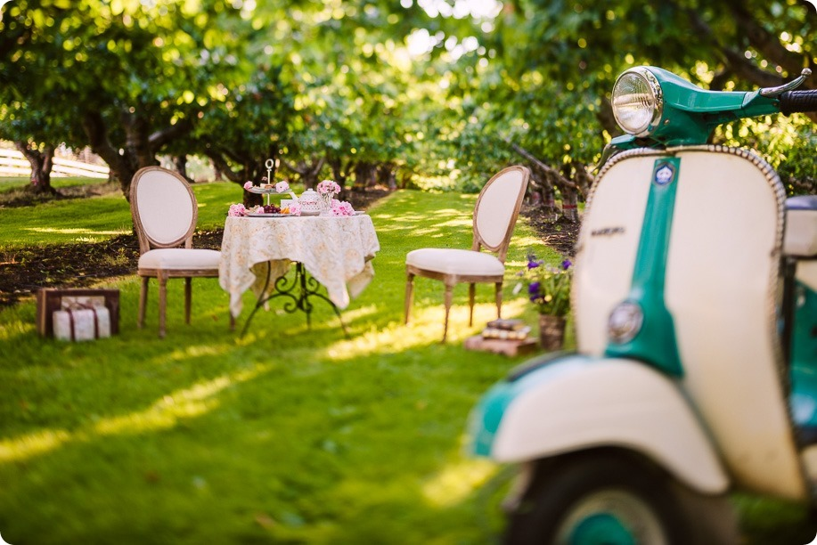 Vespa-engagement-phtoshoot-tea-party_orchard-Kelowna_05_by-Kevin-Trowbridge-photography_Kelowna