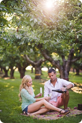 Kelowna-wedding-photographer_Cherry-orchard-engagement_dog-sunset-champagne_192530_by-Kevin-Trowbridge
