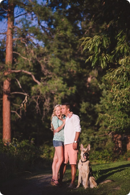 Kelowna-wedding-photographer_Cherry-orchard-engagement_dog-sunset-champagne_194953_by-Kevin-Trowbridge