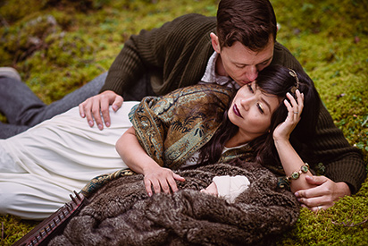 Banff-portraits_moss-forest_Fairmont-bohemian-family-session-newborn_by-Kevin-Trowbridge_Kelowna-Calgary