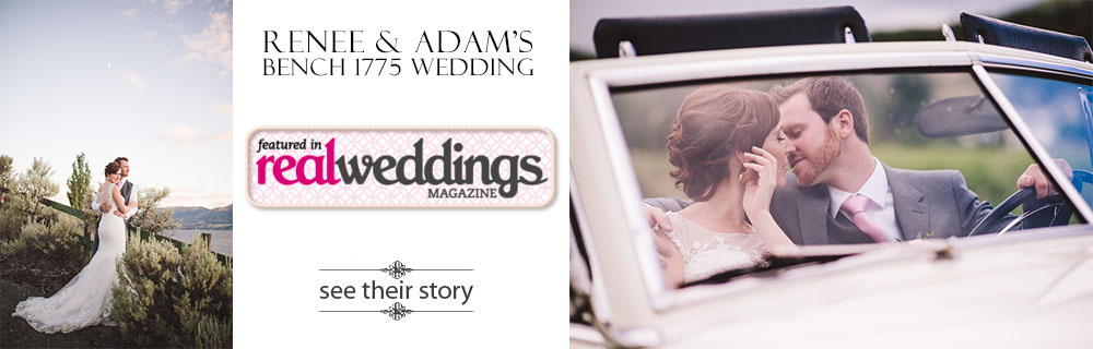 Bench 1775 Winery wedding featured in Real Weddings magazine - Renee & Adam - Kelowna wedding photographer Kevin Trowbridge