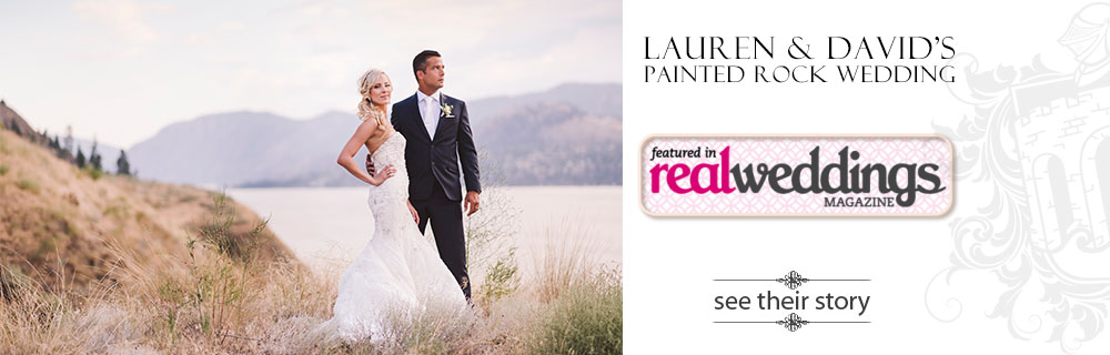 Painted Rock Winery wedding featured in Real Weddings magazine - Lauren and David - Kelowna wedding photographer Kevin Trowbridge